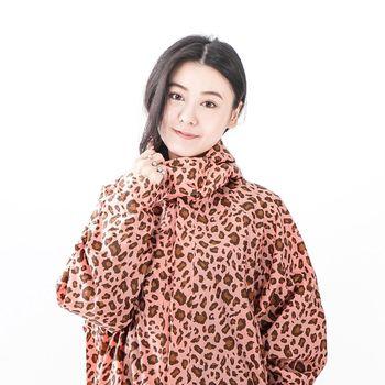 rainstory雨衣-粉紅豹紋連身甜美雨衣 (M號)