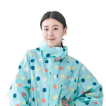 rainstory雨衣-彩色點點連身甜美雨衣(M號)