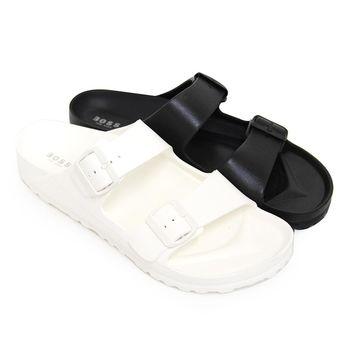 【Pretty】男款超輕量舒適防水拖鞋-白色、黑色