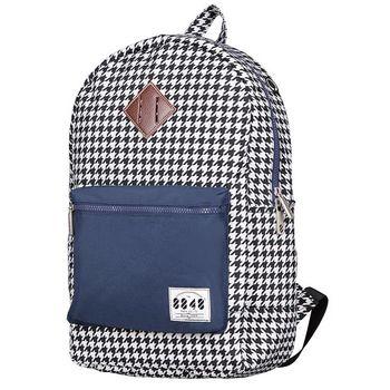 【8848】經典時尚背包-千鳥格