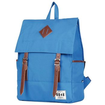 【8848】英倫學院風  雙肩後背包-天藍