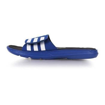 【ADIDAS】男運動拖鞋-游泳 海邊 海灘 休閒 愛迪達 藍黑白