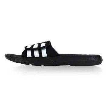 【ADIDAS】男運動拖鞋-游泳 海邊 海灘 休閒 愛迪達 黑白