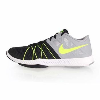 【NIKE】ZOOM TRAIN INCREDIBLY FAST男訓練鞋-慢跑 黑灰螢光綠