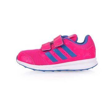 【ADIDAS】LK SPORT 2 女兒童慢跑鞋-運動 休閒 魔鬼氈 愛迪達 桃紅淺紫