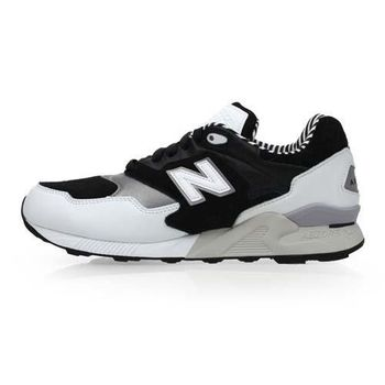 【NEWBALANCE】878系列 男復古鞋-運動 休閒 NB N字鞋 黑白銀