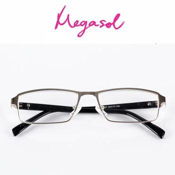 【MEGASOL】抗藍光UV400老花眼鏡(簡約中性款-8807)