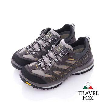 Travel Fox (男) 山林之間 Vibram大底安全登山越野運動鞋- 棕灰