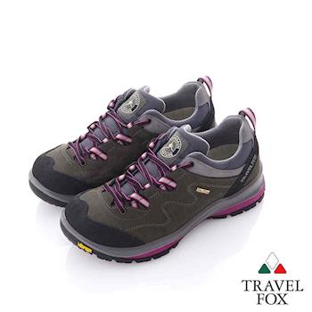 Travel Fox (女) 放輕鬆 Vibram大底安全登山越野運動鞋- 紫灰