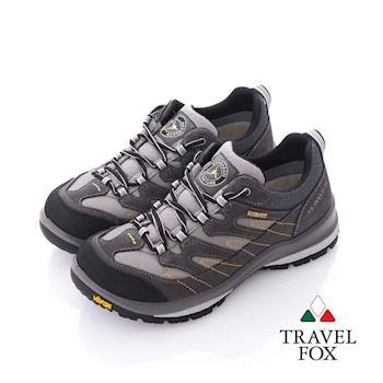 Travel Fox (女) 山林之間 Vibram大底安全登山越野運動鞋- 棕灰
