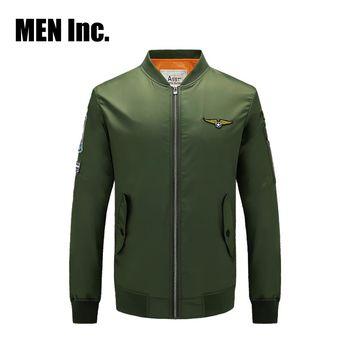Men Inc.「硬漢」MA-1飛行夾克外套-軍綠