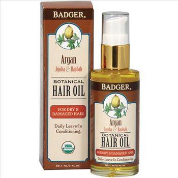BADGER蓓喆 摩洛哥堅果養護髮油Argan Hair Oi(59ML)