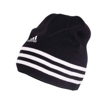 【ADIDAS】針織帽-毛帽 運動 帽子 愛迪達 黑白
