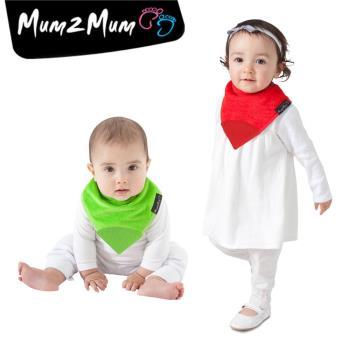 【Mum 2 Mum】機能型神奇三角口水巾咬咬兜-聖誕2入組