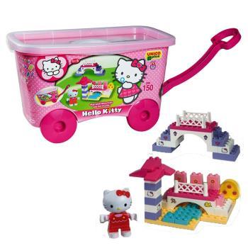 【義大利Unico】Hello Kitty-積木拖車組