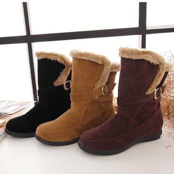 《DOOK》絨毛保暖中筒靴