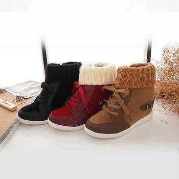 《DOOK》襪套造型綁帶雪靴