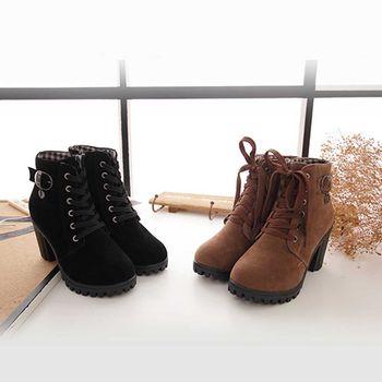 《DOOK》高跟綁帶造型靴子