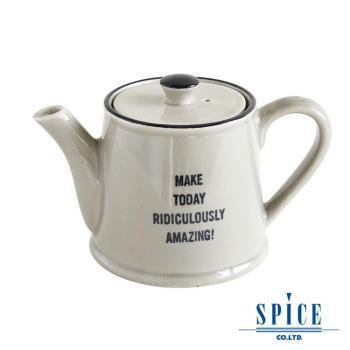 【日本 SPICE 】 典雅 氣質風 灰色 陶瓷紋理 茶壺杯