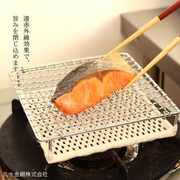 【日本丸十金網】金屬陶瓷雙層燒烤網(大款)日本製