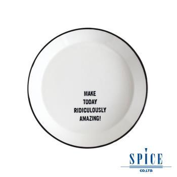 【日本 SPICE 】 典雅 氣質風 白色 陶瓷紋理 圓盤