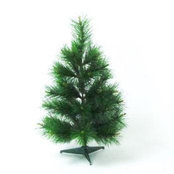 台灣製2尺/2呎(60cm)特級綠色松針葉聖誕樹裸樹 (不含飾品)(不含燈)