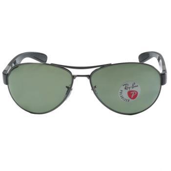 【Ray-Ban 雷朋】3509-004/9A日本限定款偏光太陽眼鏡 (槍銀-雷朋綠鏡面)