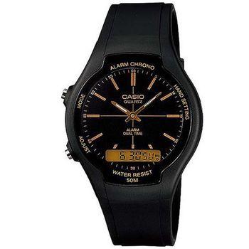 CASIO 酷炫經典指針雙顯錶(AW-90H-9E)