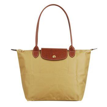 Longchamp 經典摺疊款式長提把水餃包(茴香/小)