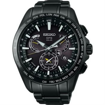 SEIKO ASTRON GPS 衛星太陽能電波腕錶-黑/45mm 8X53-0AD0SD(SSE079J1)