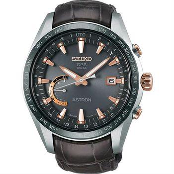 SEIKO 精工 ASTRON GPS 鈦衛星太陽能電波腕錶-45mm 8X22-0AG0G(SSE095J1)