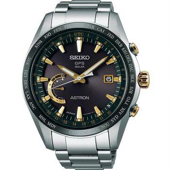 SEIKO 精工 ASTRON GPS 鈦衛星太陽能電波腕錶-45mm 8X22-0AG0K(SSE087J1)