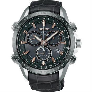 SEIKO ASTRON GPS衛星鈦金屬計時碼錶-黑/45mm 8X82-0AB0G(SSE023J1)