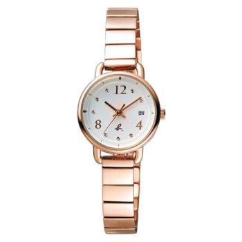 agnes b. ART 法式藝術手繪星星時尚腕錶-玫瑰金/26mm VJ22-KR80O(BH7009X1)