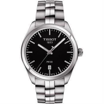 TISSOT PR100經典美學時尚腕錶-黑/39mm T1014101105100