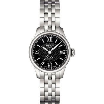 TISSOT Le Locle 力洛克系列圖騰紋機械女錶-25mm T41118353