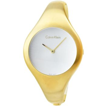 CK Calvin Klein Bare 凱文克萊時尚手環錶-金 / K7G1S516