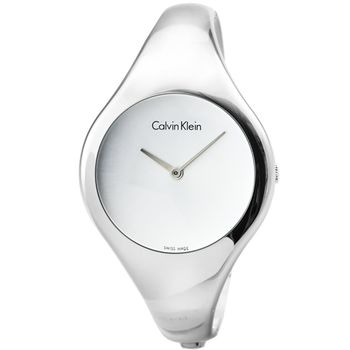 CK Calvin Klein Bare 凱文克萊時尚手環錶-銀 / K7G2S116