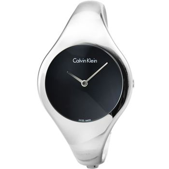 CK Calvin Klein Bare 凱文克萊時尚手環錶-黑 / K7G2S111