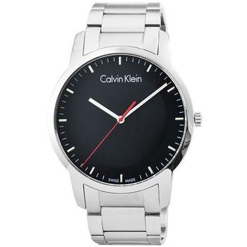 CK Calvin Klein City 凱文克萊時尚鋼帶男錶-黑 / K2G2G141