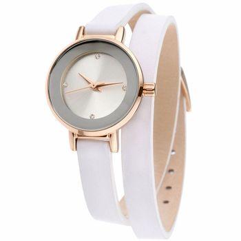 MANGO 星球系耀眼經典時尚腕錶-白/24mm