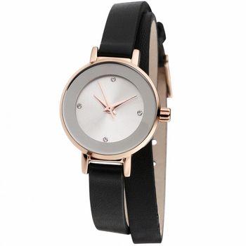 MANGO 星球系耀眼經典時尚腕錶-黑/24mm