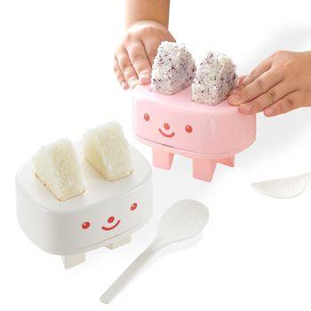 【特惠組】日本製造AKEBONO親子飯糰壓模器(白色+粉紅色)2入裝