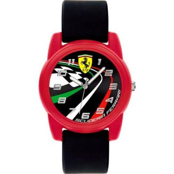 Scuderia Ferrari 法拉利 REV-T 跑道競速腕錶-黑/40mm 0810009