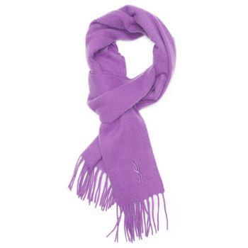 YSL 純色羊毛圍巾-紫色