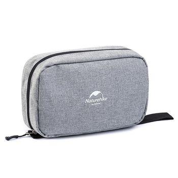PUSH!旅遊用品防水防撕裂盥洗用具包便攜出差洗簌牙刷包S41麻灰色