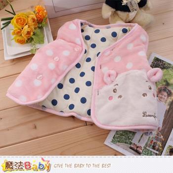 魔法Baby 寶寶外套 專櫃款絲絨極暖厚鋪棉背心外套~k60055