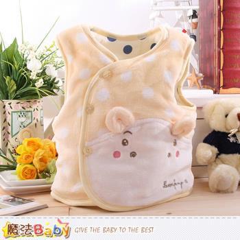魔法Baby 寶寶外套 專櫃款絲絨極暖厚鋪棉背心外套~k60054