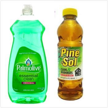 【美國 Palmolive】棕欖濃縮洗碗精(52oz/1530ml*3)+【美國 Pine sol 潘松】萬用松香清潔液(24oz/709ml)*3