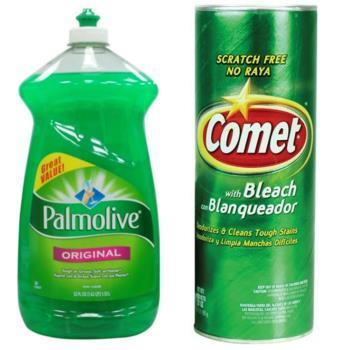 【美國 Palmolive】棕欖濃縮洗碗精(52oz/1530ml*3)+【美國 Comet】萬用強力去污粉-原始香味(21oz/595g)*3